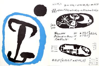 Joan Miró, 'La Quimica from Derrière le Miroir ', 1956