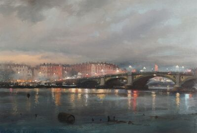 Michael Alford, 'Rain over Chelsea, Battersea Bridge ', 2021