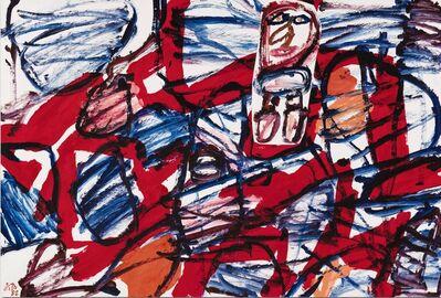 Jean Dubuffet, 'Site aléatoire avec un personnage', 1982