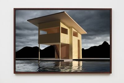 James Casebere, 'Yellow House on Water', 2018