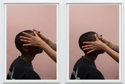 Paul Hutchinson, 'contact, hands and head (I) + contact, hands and head (II)', 2017