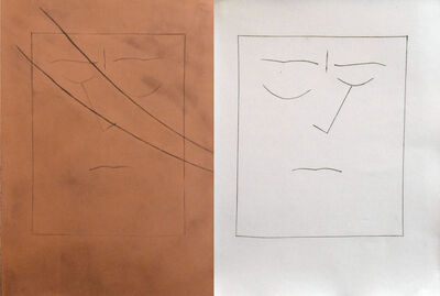 Pablo Picasso, 'Square Head of a Man with Closed Eyes (Plate VIII)', 1949