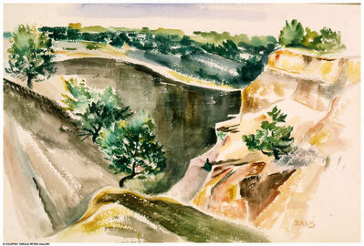 Jozef Bakos, 'Canyon Entrance'