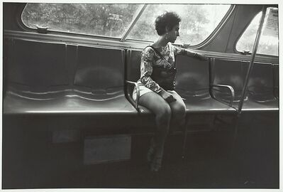 Garry Winogrand, 'Untitled, Woman in Mini Skirt Sitting on Bus', 1970-1980
