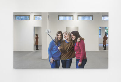 Michelangelo Pistoletto, 'Selfie - tre ragazze di fronte', 2018