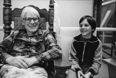 Margo Rosenbaum, 'Willem de Kooning in his Studio with Neil', 1976-printed 2021