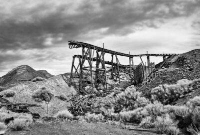 Osceola Refetoff, 'Remains of the Minecart Trestle - Infrared Exposure - Cerro Gordo, California', 2012