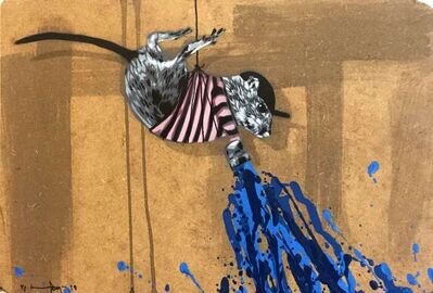 Hama Woods, 'Rat painting Blue', 2018