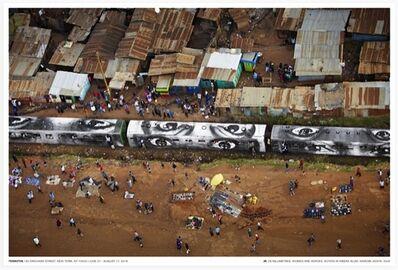 JR, 'Action in Kibera slum, Nairobi, Kenya', 2018