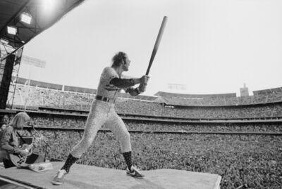 Terry O'Neill, 'Elton John in Full Swing, Dodger Stadium, Los Angeles', 1975