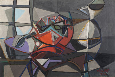 Renato Birolli, 'Tavola con caraffe', 1948