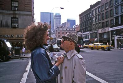 Harry Benson, 'Marisa Berenson and Swifty Lazar, New York', 1982