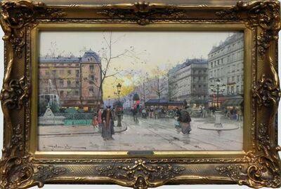 Eugène Galien-Laloue, 'La Place Pigalle', 1927