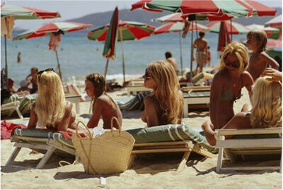 Slim Aarons, 'St. Tropez Beach, 1971: The beach at Saint-Tropez, on the French Riviera', 1971