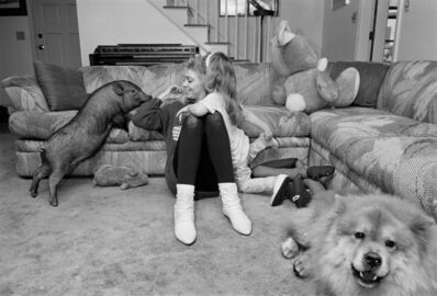 Sage Sohier, 'Mother and Daughter with Pot-bellied Pig and Chow-Chow, New Hampshire', 1992