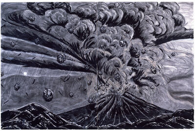 Helen Oji, 'Volcano Series #42, Clouds of Stone (diptych)', 1983