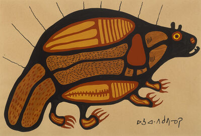 Norval Morrisseau, 'Sacred Beaver With Power Lines', 1962