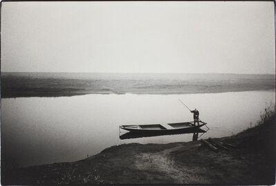 Kazuo Kitai, 'Ferryboat, Itakura, Gunma (To the Villages series)', 1974