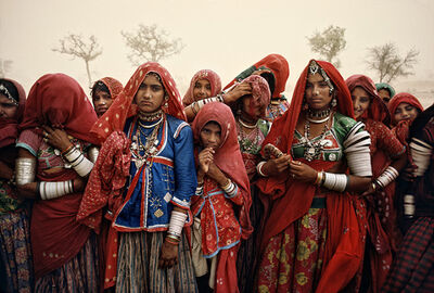 Steve McCurry, 'Cluster of Women in Dust Storm, India', 1983