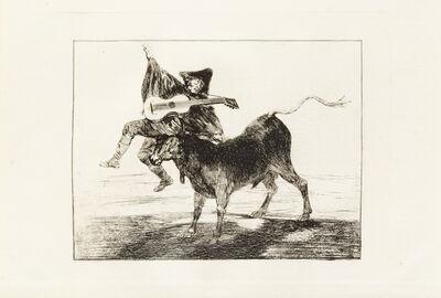 Francisco de Goya, 'A group of 3 prints including Tan bárbara la Seguridad come el Delito ('The Little Prisoner'), c. 1820; Dios se lo pague a usted ('Blind Man tossed on the Horns of a Bull'), c. 1800-1808; and Al Toro y al Aire Darles Calle (Lluvia de Toros) c. 1824'