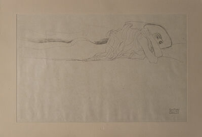 Gustav Klimt, 'Sketch of a Woman Lying Down', 1919