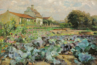 Marie Egner, 'Farm garden in Wachau', ca. 1900