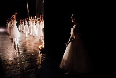 Steve McCurry, 'BACKSTAGE BALLERINA DURING A PERFORMANCE OF SWAN LAKE, 1990', 1990