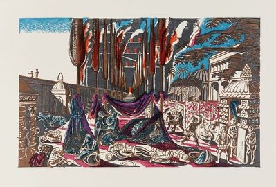 Edward Bawden, 'Salammbo...The Feast, The Gardens of Hamilcar', 1960
