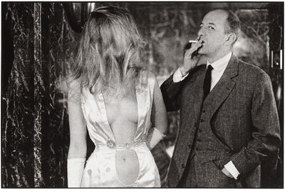 Frank Horvat, 'Paris, Alain Bernardin, owner of the Crazy Horse Saloon, with stripper', 1962