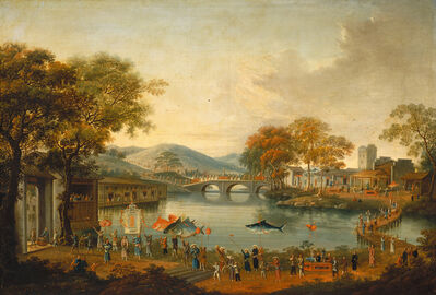 'Procession by a Lake', 19th century