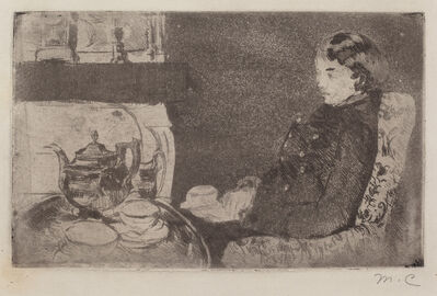 Mary Cassatt, 'Lydia at Afternoon Tea', 1882
