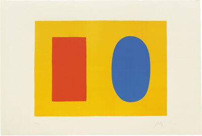 Ellsworth Kelly, 'Orange and Blue over Yellow (Orange et Bleu sur Jaune)', 1964-65