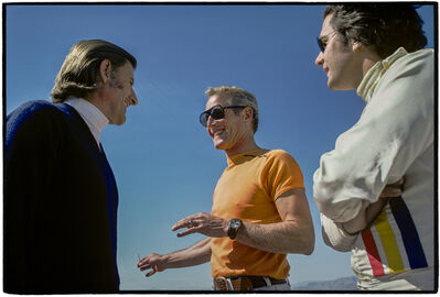 Al Satterwhite, 'Graham Hill, Paul Newman, Luigi Chinetti, Jr', 1974