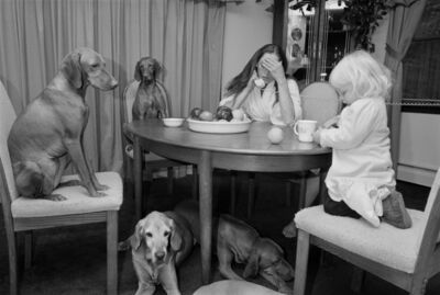 Sage Sohier, 'Mother and Daughter with Vizslas at the Dining Table, Sterling, Connecticut ', 1992