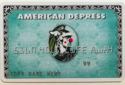 D*Face, 'American Depress card', 2008