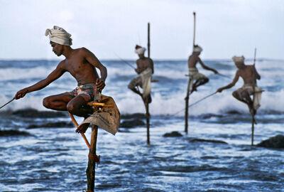 Steve McCurry, 'Stilt fishermen, Weligama, Sri Lanka', 1995