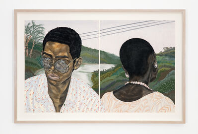 Toyin Ojih Odutola, 'Industry (Husband and Wife)', 2017