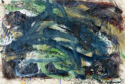 """Arnulf Rainer, 'Grauer Stern, série """"Chaotische Malerei""""', 1980"""