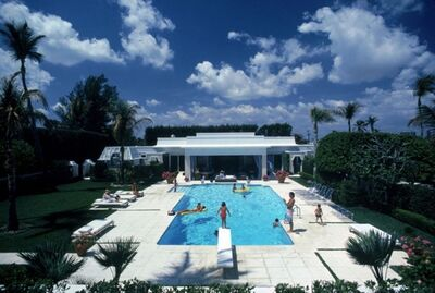Slim Aarons, 'Pool in Palm Beach', 1985