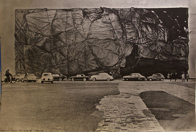 Christo and Jeanne-Claude, 'Project for a Public Building's Packaging', ca. 1971