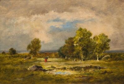 Narcisse-Virgile Diaz de la Peña, 'Clairiere et Mare aux Viperes, Foret de Fontainebleau'