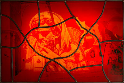 Sarkis, 'Red stained glass series No: 9', 2020