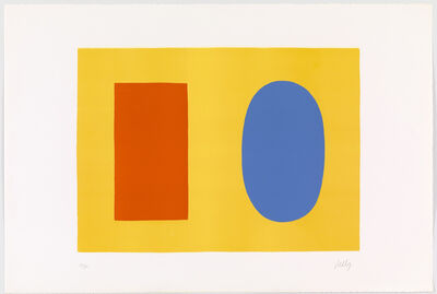 Ellsworth Kelly, 'Orange & Blue Over Yellow', 1964