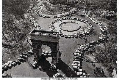 André Kertész, 'Manifestation Contre the Parking Ban'