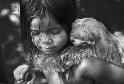 Araquém Alcântara, 'Brasileiros, Indian child with sloth, Cruzeiro do Sul, Acre, Brazil', 2013