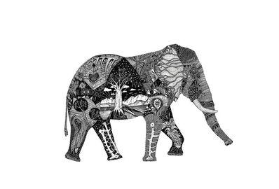 Christo Du Toit, 'Elephant - Limited Edition Print'