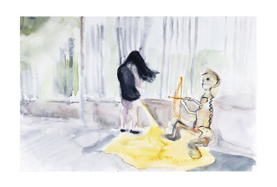 Miguel Calderón, 'Aparición amarilla', 2019