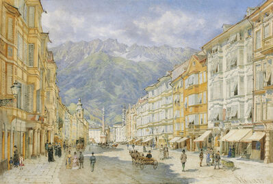 Franz Alt, 'The Maria Theresien Street in Innsbruck', 1873