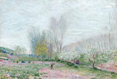 Alfred Sisley, 'Les Pommiers en fleurs à Moret-sur-Loing', 1890