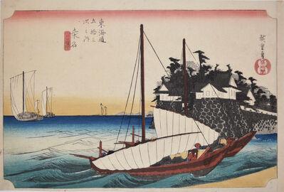 Utagawa Hiroshige (Andō Hiroshige), 'Kuwana', 1832-1833